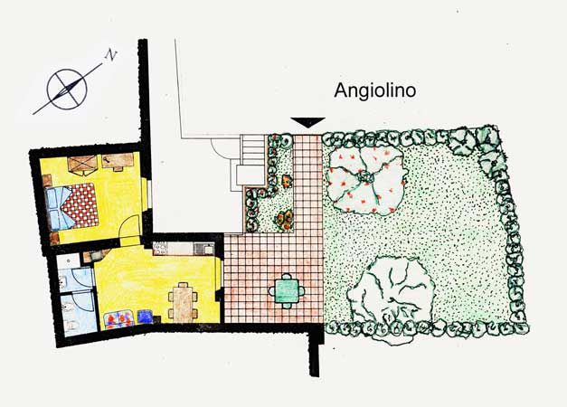 Casa Vacanze La Baghera - La Baghera Alta - Appartamento Angiolino - Piantina