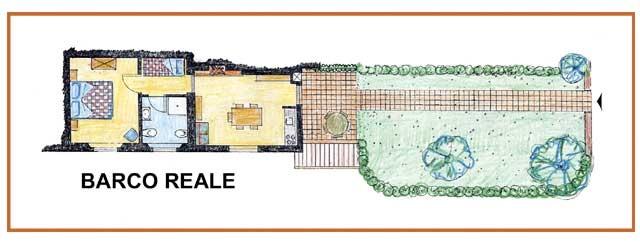 Casa Vacanze La Baghera - La Baghera - Appartamento Barco Reale - Piantina