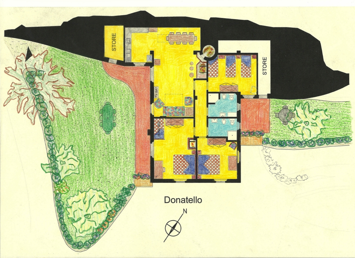 Casa Vacanze La Baghera - La Baghera Alta - Appartamento Donatello - Piantina