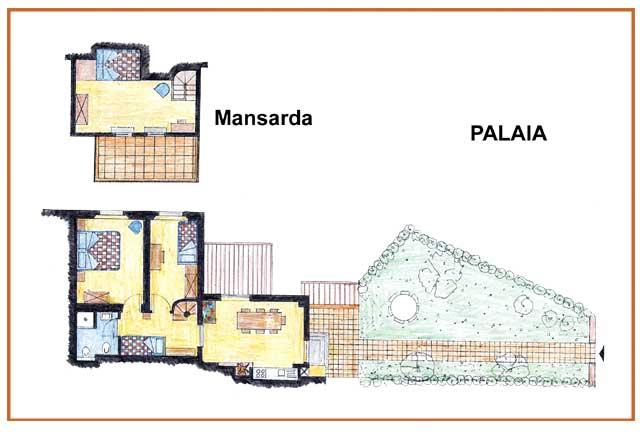 Casa Vacanze La Baghera - La Baghera - Appartamento Palaia - Piantina